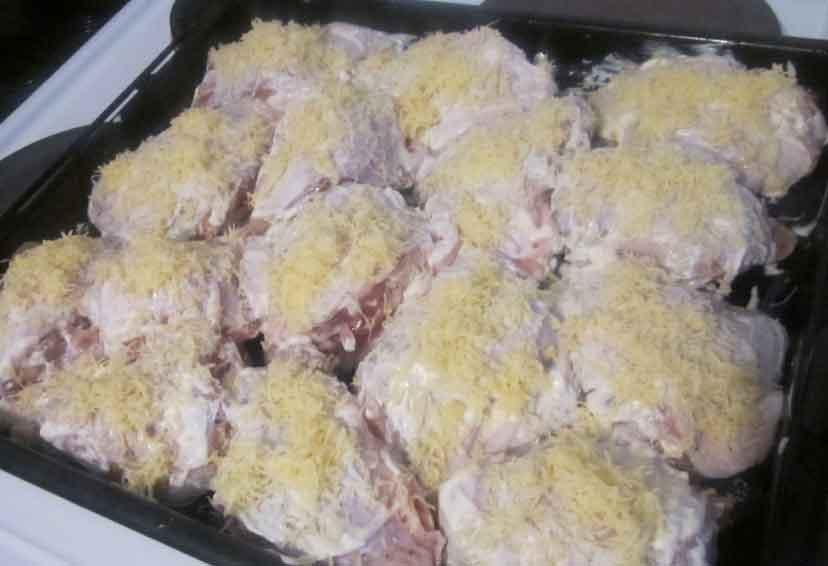 Бедра куриные в духовке с сыром рецепт с пошагово в