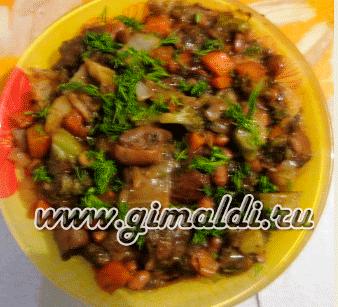 Рагу овощное с грибами