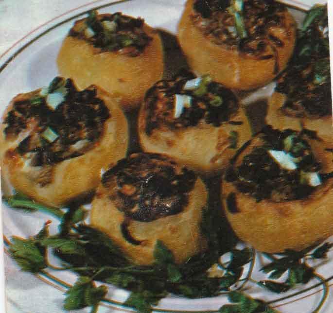 Картофель, фаршированный печенкой
