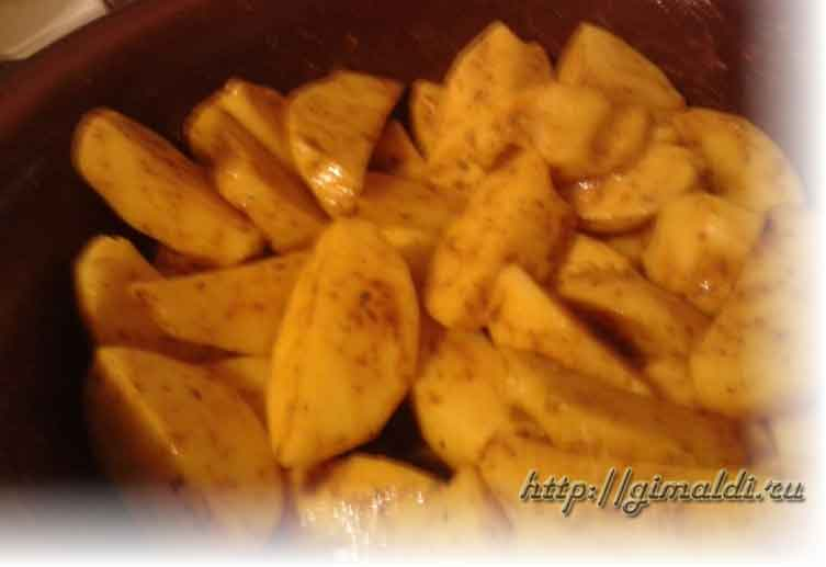 картошка по-деревенески