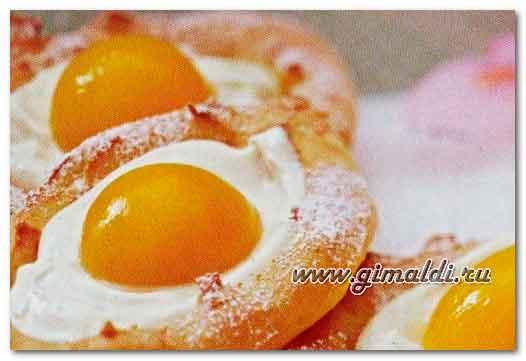 Заварные пирожные с абрикосом