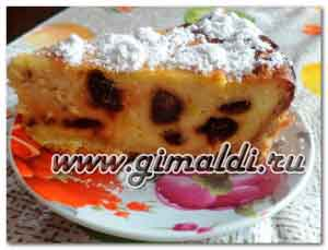Пирог с творогом и финиками