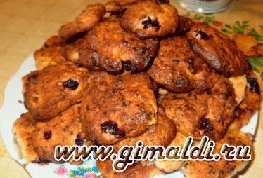 Печенье с творогом и шоколадом