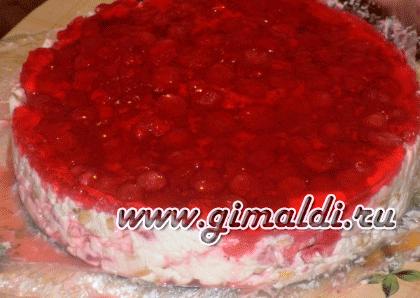"""Торт без выпечки """"Клубничка"""""""