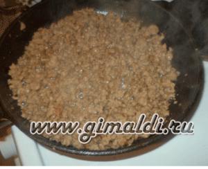 Пирог с мясом и рисом