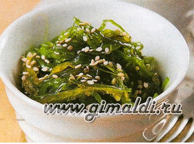 Салат из сушеной морской капусты