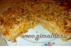Пирог с яблоками и апельсинами
