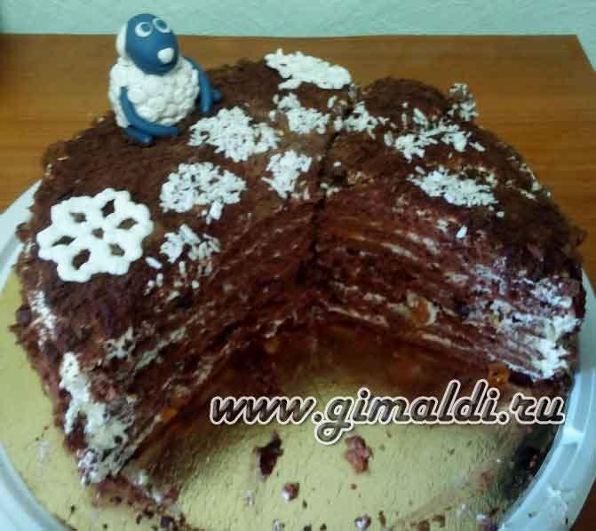 "Торт ""Шоколадно-молочная девочка"""