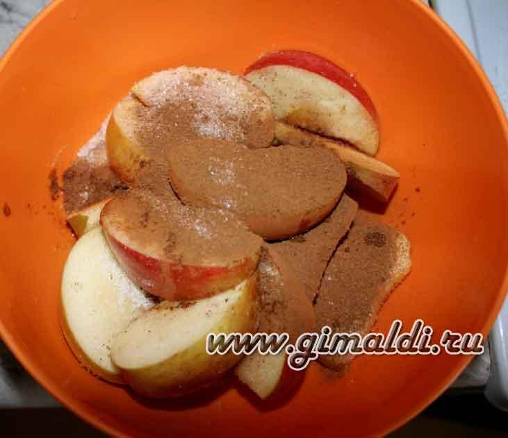 Яблочная вегетарианская шарлотка