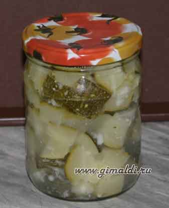 Кабачки в чесночном маринаде