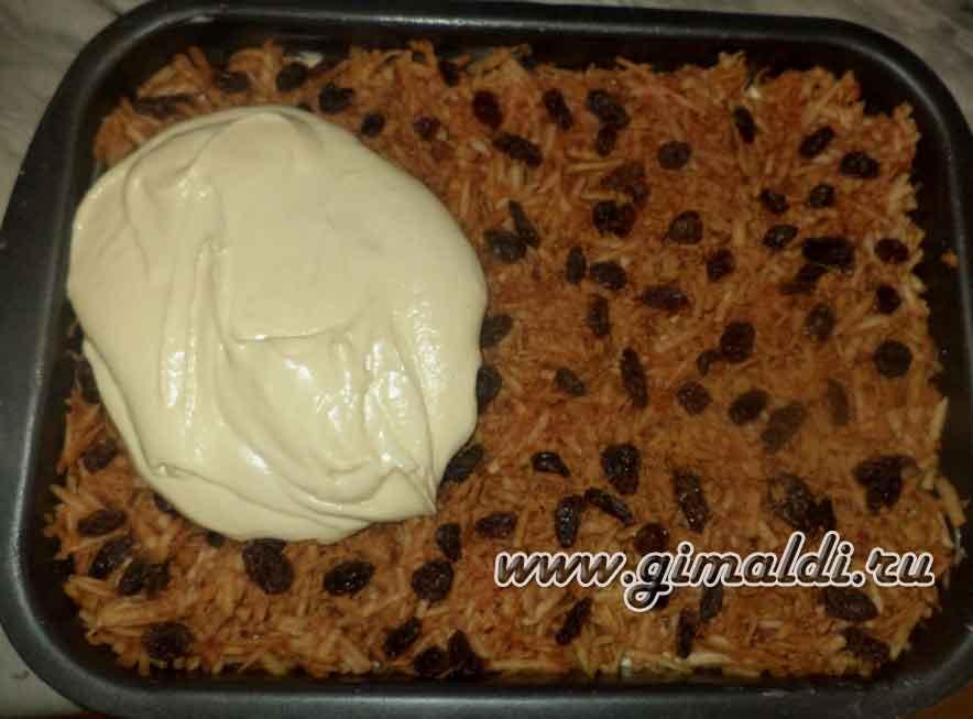 Пирог сметанно-яблочный