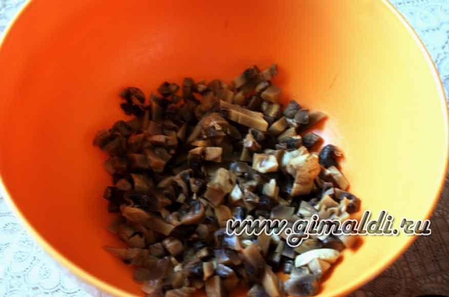 Куриные и грибные мафины с сыром