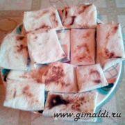 Закуска-жаренный лаваш с сыром