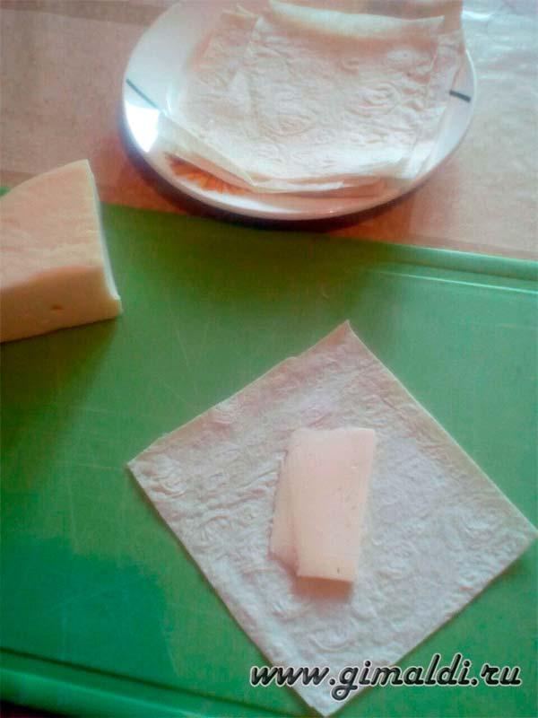 Рецепт быстрой закуски из лаваша