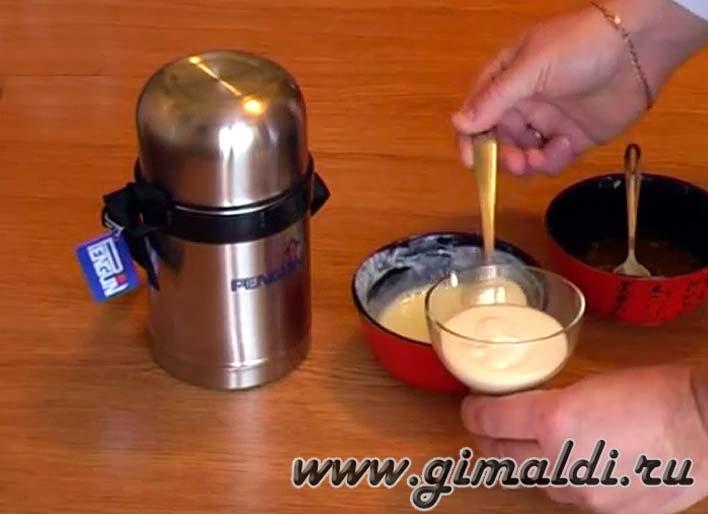 Приготовление йогурта в термосе