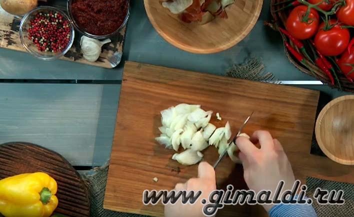 Приготовление картофелого супв-пюра с перцем
