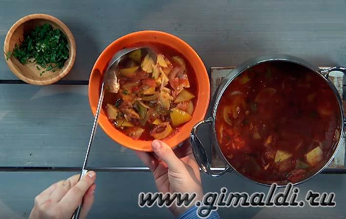 Картофельный суп — пюре с перцем
