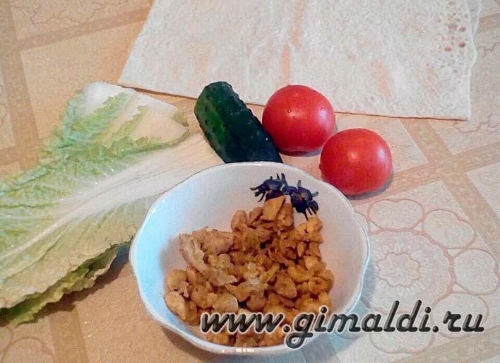 Ингредиенты для шавермы
