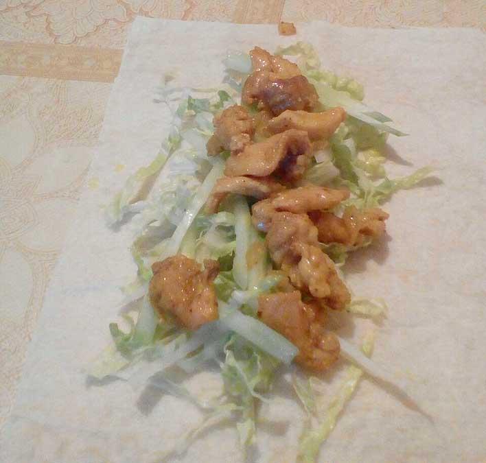 Салат с мясом для шавермы