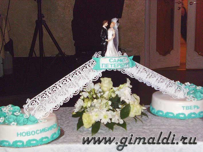 Заказ торта на свадьбу