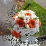 Стильный свадебный букет
