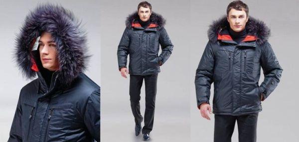 Тёплая зимняя куртка мужская