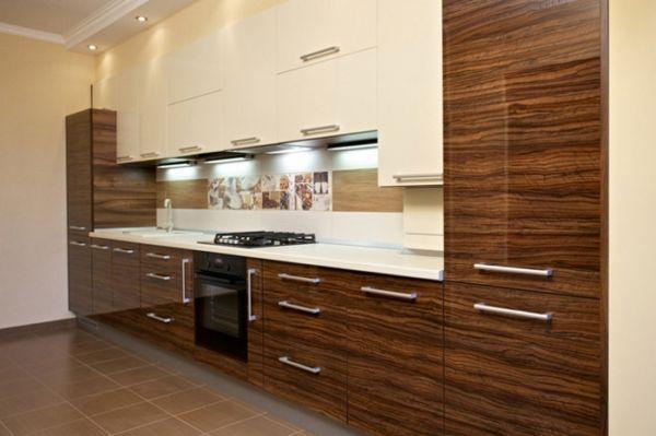 Использование виниловой глянцевой пленки для фасадов кухни