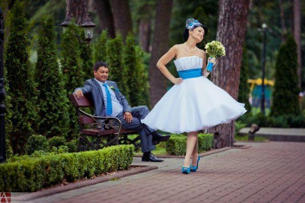 Свадебные платья в стиле стиляг для невест