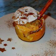 Яблочно творожный десерт
