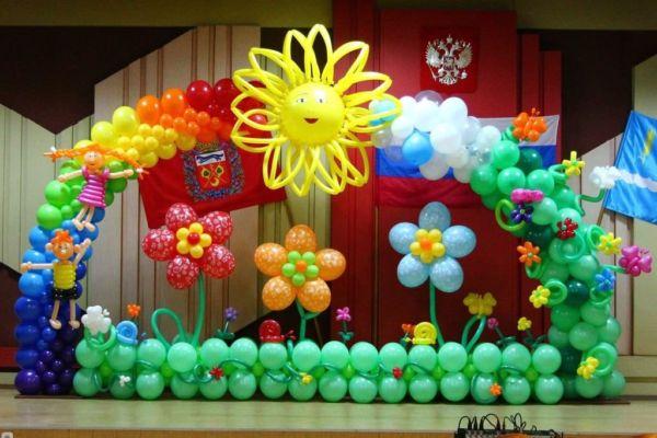 Украсить праздник шарами