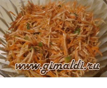 Салат из корня сельдерея с морковью