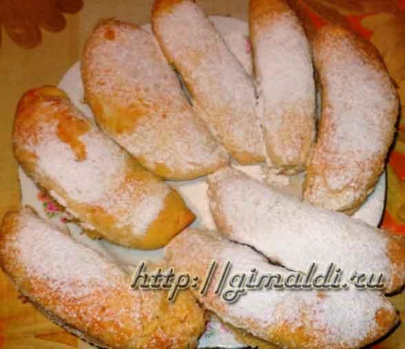 Печенье с творогом и бананами