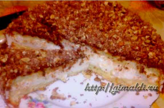 Торт – суфле сливочное