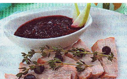 Черничный соус к мясным блюдам
