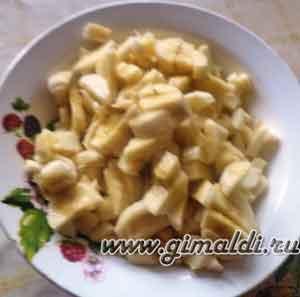 Пирожки с яблоками и бананом