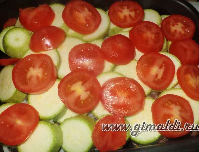 Филе индейки, запеченное с овощами