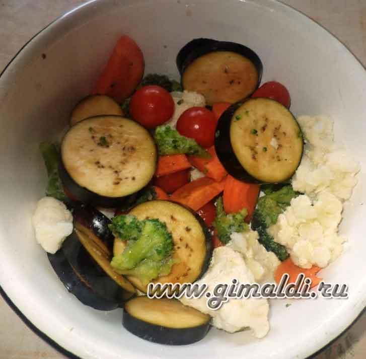 Индейка в рукаве с овощами