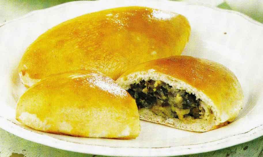 Заварные пирожки с говяжьей печенкой