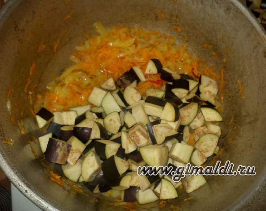 Один из способов приготовления баклажанной икры