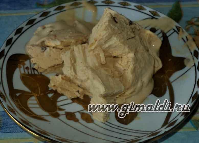 Домашнее мороженое со сгущенкой