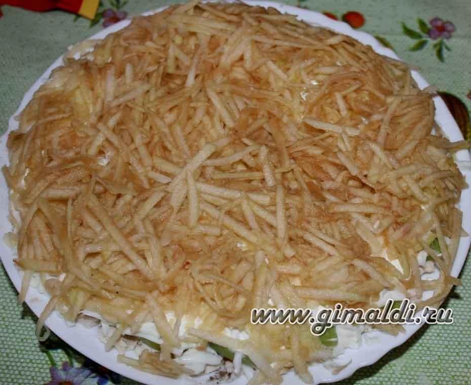 Оригинальный салат с корейской морковью