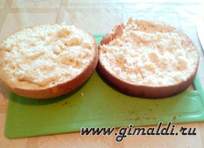 Бисквитный торт-две половинки