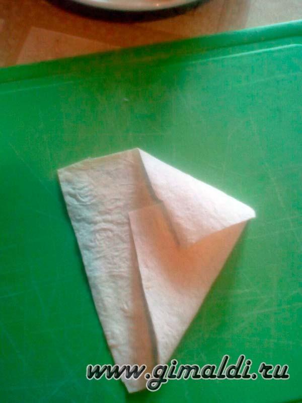 Лаваш с сыром конвертиком