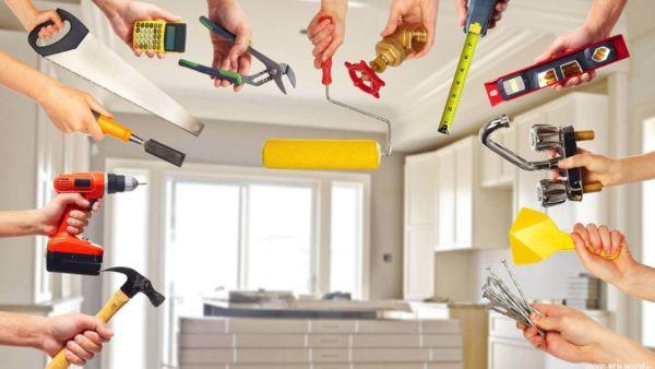 Ремонтные работы в квартире.