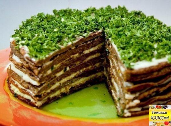 Печеночный торт: вкусно, питательно и очень красиво