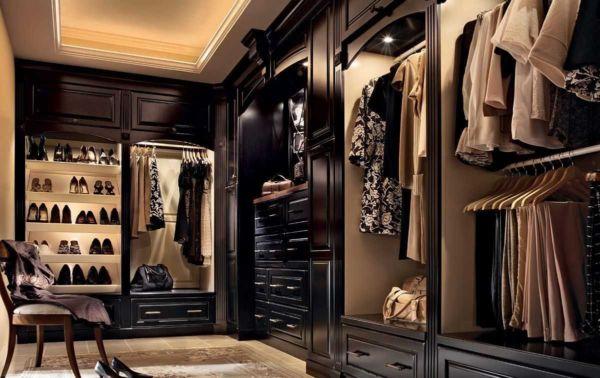 Современные гардеробные в интерьере