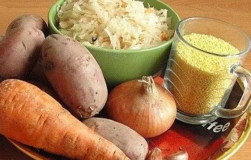 Продукты для капустняка